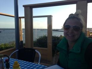 Enjoying a sunset dinner in San Francisco